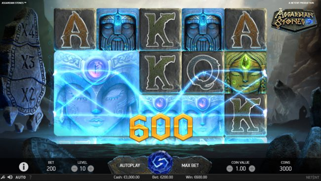 Fruity Vegas featuring the Video Slots Asgardian Stones with a maximum payout of $100,000