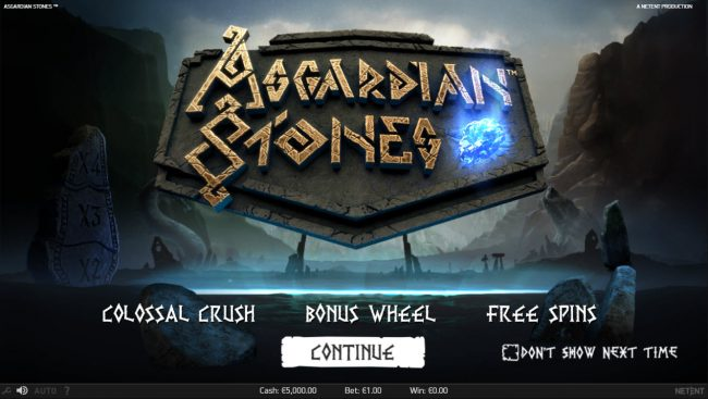 Play slots at Moon Games: Moon Games featuring the Video Slots Asgardian Stones with a maximum payout of $100,000