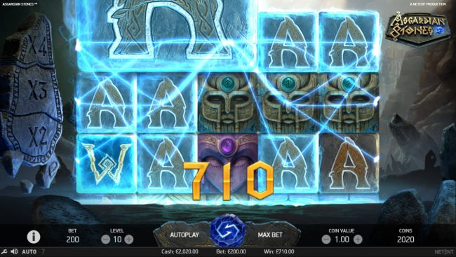 ReelTastic featuring the Video Slots Asgardian Stones with a maximum payout of $100,000