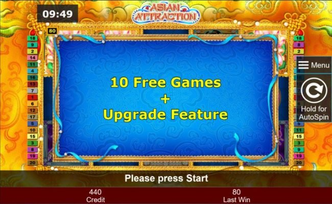 10 free games + Upgrade Feature.