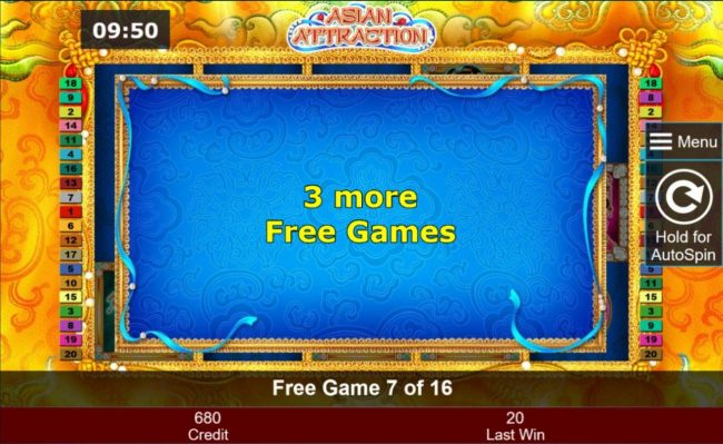 Asian Attraction :: 3 additional free games awarded.