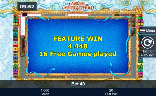 Asian Attraction :: 4,440.00 awarded after playing 16 free games.