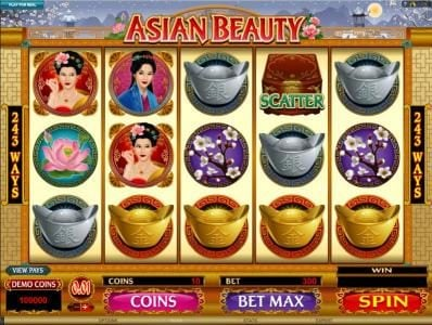 Vegas Winner featuring the Video Slots Asian Beauty with a maximum payout of $10,000