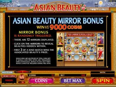 Grand Mondial featuring the Video Slots Asian Beauty with a maximum payout of $10,000