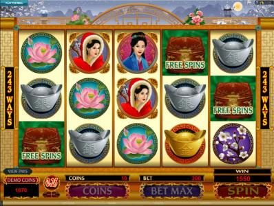 three scatter symbols trigger free spins