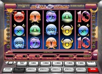 Play slots at X-Bet: X-Bet featuring the Video Slots Astro Magic with a maximum payout of $5,000