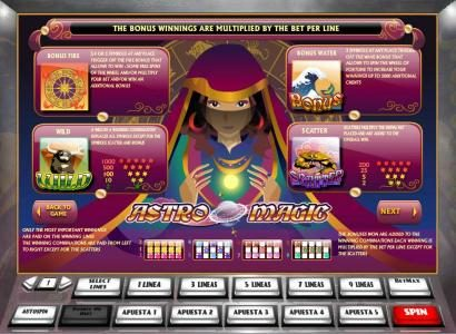 Play slots at Wild Jackpots: Wild Jackpots featuring the Video Slots Astro Magic with a maximum payout of $5,000