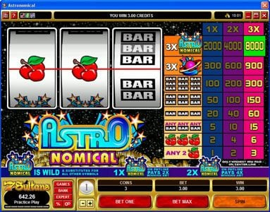 Vegas Country featuring the Video Slots Astronomical with a maximum payout of $40,000