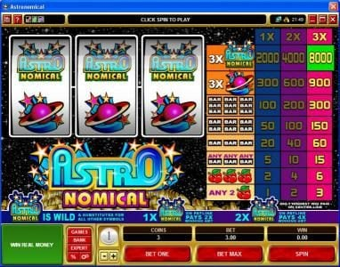 Play slots at Bet Phoenix: Bet Phoenix featuring the Video Slots Astronomical with a maximum payout of $40,000