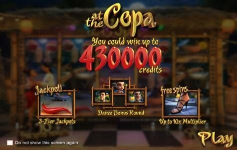 Play slots at MyBcasino: MyBcasino featuring the Video Slots At The Copa with a maximum payout of $3,750