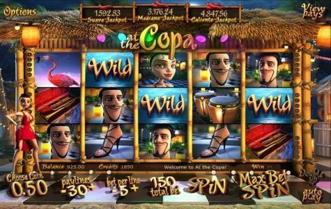 BetOnline featuring the Video Slots At The Copa with a maximum payout of $3,750