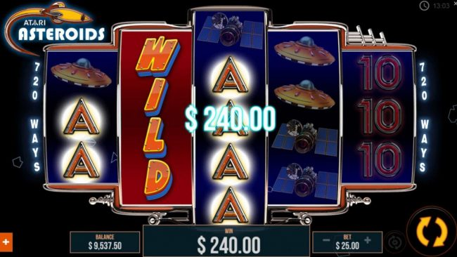 Stacked wilds triggers a pair of winning paylines