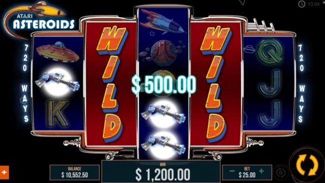 Stacked wilds trigger a 500 payout