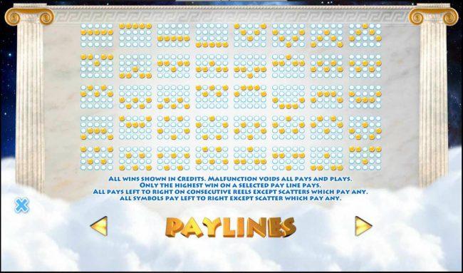 Athena :: Paylines 1-40
