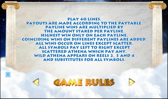 Athena :: General Game Rules