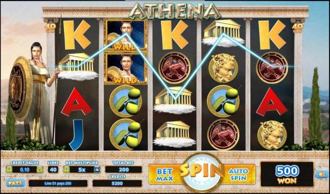 Athena :: Multiple winning paylines