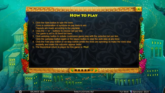 Crypto Wild featuring the Video Slots Atlantic Treasures with a maximum payout of $1,800