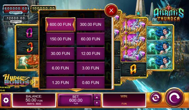 Atlantis Thunder :: Betting Options