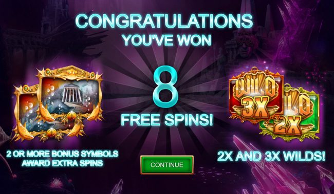 Atlantis Thunder :: 8 Free Spins Awarded
