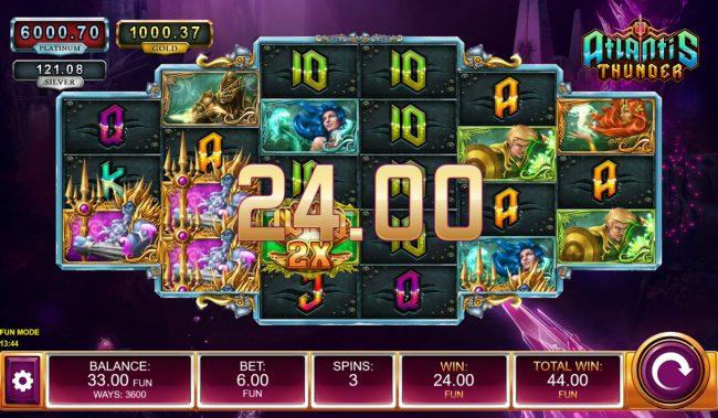 Atlantis Thunder :: Multiple winning paylines