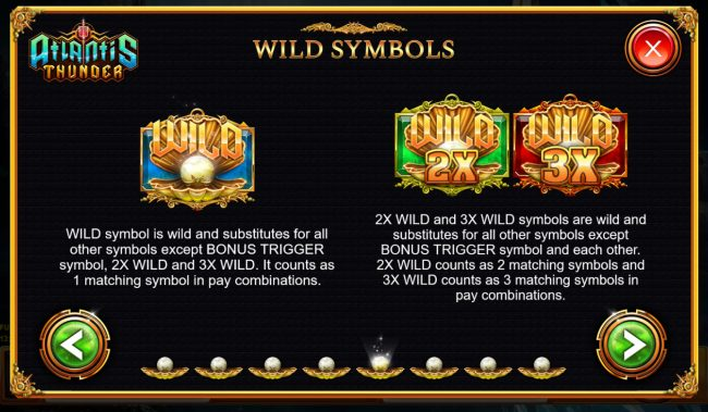 Atlantis Thunder :: Wild Symbol Rules