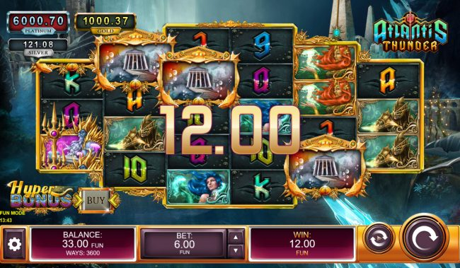 Atlantis Thunder :: Scatter win triggers the free spins feature