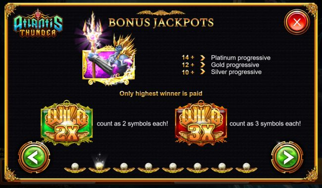 Atlantis Thunder :: Bonus Jackpots