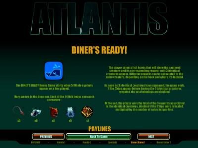 diner's ready bonus rules