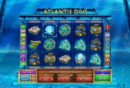 Play slots at AdamEve: AdamEve featuring the Video Slots Atlantis Dive with a maximum payout of $62,500