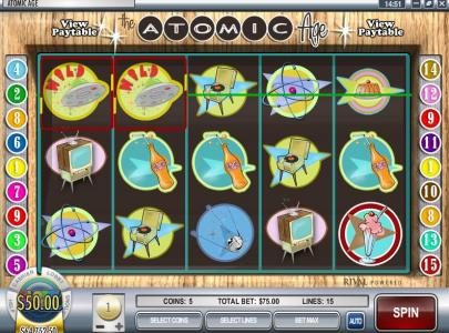 Slot Power featuring the Video Slots Atomic Age with a maximum payout of $37,500