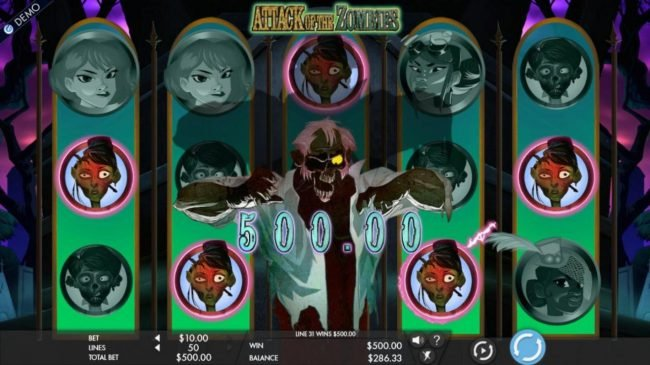 Ladbrokes featuring the Video Slots Attack of the Zombies with a maximum payout of $7,500