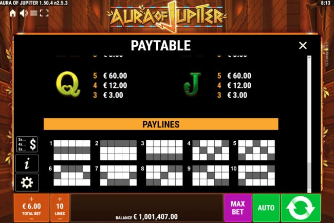 Play slots at Betwinner: Betwinner featuring the Video Slots Aura of Jupiter with a maximum payout of $3,000