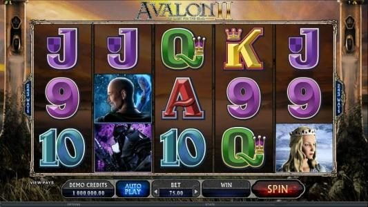 Clover Casino featuring the Video Slots Avalon II The Quest for the Grail with a maximum payout of $1,200,000