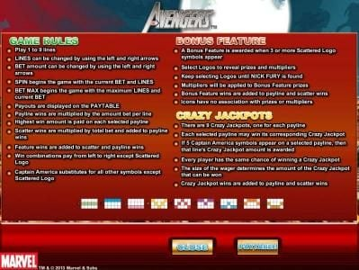 Spinrider featuring the Video Slots The Avengers with a maximum payout of Jackpot