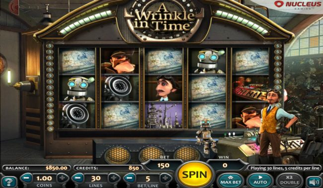 Big Spin featuring the Video Slots A Wrinkle in Time with a maximum payout of $225,000