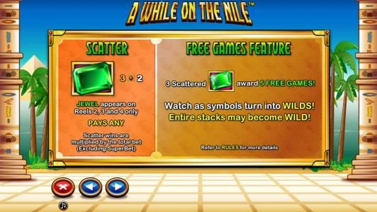 Jetbull featuring the Video Slots A While on the Nile with a maximum payout of $41,250