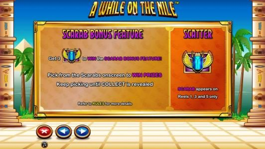 Enzo Casino featuring the Video Slots A While on the Nile with a maximum payout of $41,250