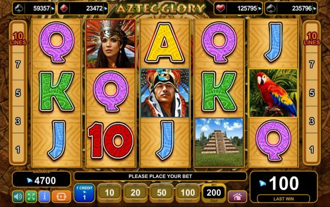Play slots at Casino-X: Casino-X featuring the Video Slots Aztec Glory with a maximum payout of $500,000