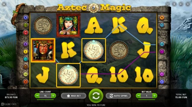 Zet Casino featuring the Video Slots Aztec Magic with a maximum payout of $5,000