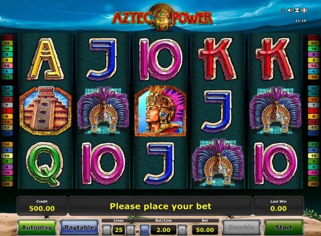 AC Casino featuring the Video Slots Aztec Power with a maximum payout of $25,000