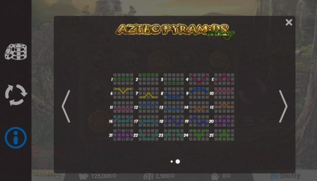 Oshi featuring the Video Slots Aztec Pyramids with a maximum payout of $200,000