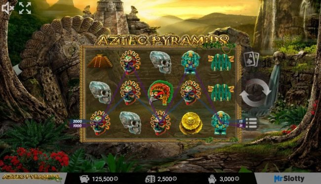 Lord of the Spins featuring the Video Slots Aztec Pyramids with a maximum payout of $200,000