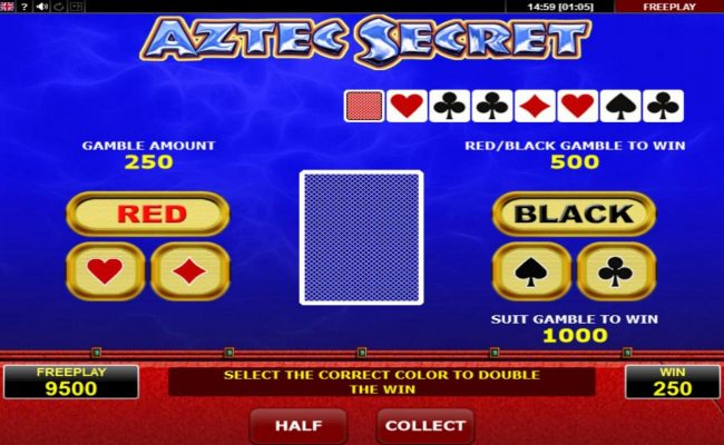 Norske Casino featuring the Video Slots Aztec Secret with a maximum payout of $125,000
