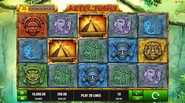 Play slots at X-Bet: X-Bet featuring the Video Slots Aztec Temple with a maximum payout of $500,000