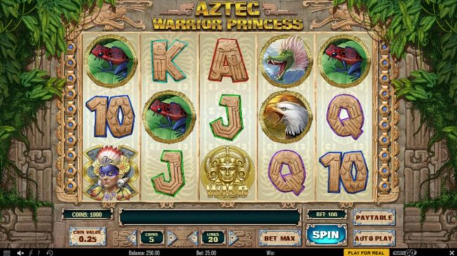 Play slots at Betwinner: Betwinner featuring the Video Slots Aztec Warrior Princess with a maximum payout of $6,250
