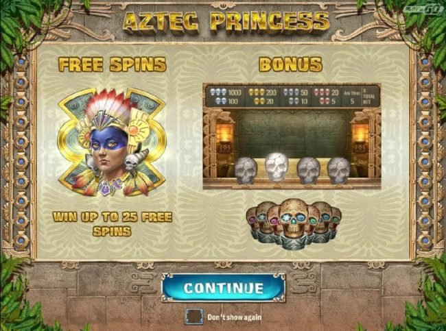 Play slots at Neder: Neder featuring the Video Slots Aztec Princess with a maximum payout of $6,250