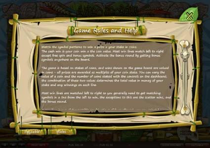 Enzo Casino featuring the Video Slots Aztec Secrets with a maximum payout of £22,500