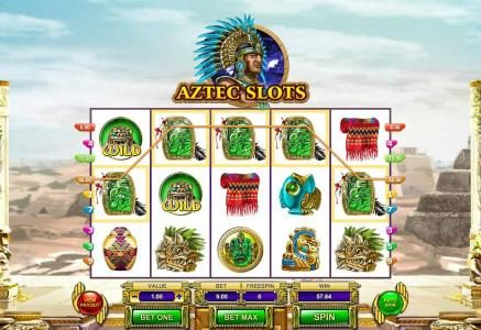 Videoslots featuring the Video Slots Aztec Slots with a maximum payout of $7,500