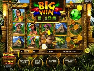 Real Bet featuring the Video Slots Aztec Treasure with a maximum payout of $250