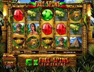 Slots LV featuring the Video Slots Aztec Treasure with a maximum payout of $250